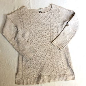 Dynamite creme cable knit sweater